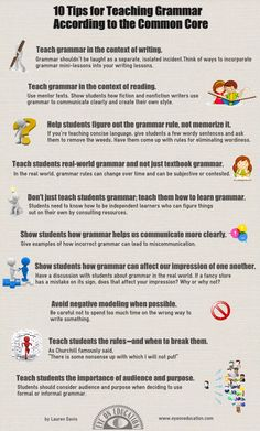 10 Tips for Teaching Grammar According to the Common Core