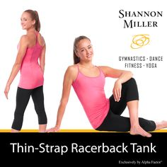 Don't forget to get this super sexy thin-strap tank to wear by itself or under your Shannon Miller tank. It comes with removable cups and has flat seams for comfort. Also available in black.