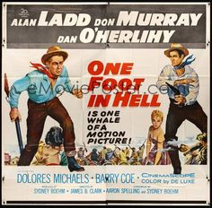 ONE FOOT IN HELL (1960) Alan Ladd, Don Murray, Dan O'Herlihy