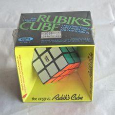 Vintage Factory Sealed Original Rubik's Cube Ideal 1980 Taiwan