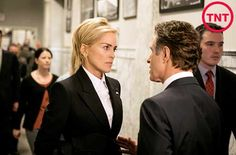 Sharon Stone as Agent X on TNT