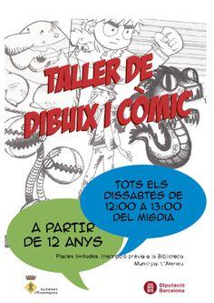 Activitat per als joves d'#Esparreguera Taller de Dibuix i Còmic, tots els dissabtes de 12 a 13! Inscripció prèvia a la biblioteca, places limitades!