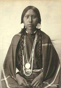 A Spokane Woman. Photo by Frank Laroche. 1897. Washington state. — with Ivan Kudrna and Juan P Hidalgo.