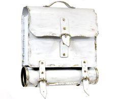 Briefkasten Postkasten rostfreier Stahl Schmiedekunst weiß Kostenloser Versand