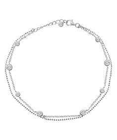 925 Sterling Silver Adjustable Heart Anklet - Exotic Jewellery for the Diserning AMQxpq8
