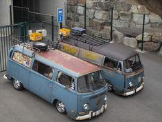 Pair of low light bays Volkswagen Transporter, Vw Bus T2, Bus Camper, Volkswagen Bus, Vw T1, Campers, Volkswagen Beetles, Van Vw, Kdf Wagen