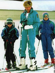 Diana and the boys skiing
