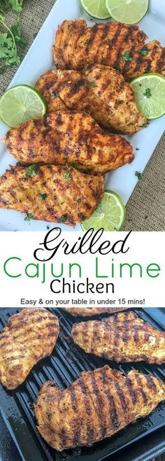 Grilled Cajun Lime Chicken #chickenrecipe