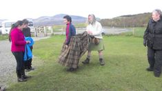 This clip taught me that the first stage of a kilt is called an arisaid, a womens kilt!