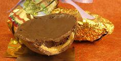 Recheio Mania: Ovo de Páscoa com parede de musse de chocolate