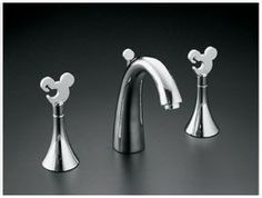 For a MM Bathroom/Kitchen makeover - Mickey Mouse sink handles.definitely need these! Mickey Mouse Bathroom, Mickey Mouse House, Mickey Mouse Kitchen, Minnie Mouse, Mickey Mouse Design, Theme Mickey, Disney Mickey, Mickey Birthday, Mickey Head