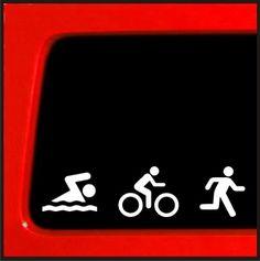 Triathlon Sticker Die Cut Decal #2