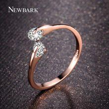 NEWBARK 18K Rose Gold Plated Fashion Design Twin Zircon CZ Engagement Wedding…