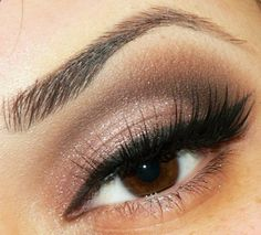 My Favorite eye makeup, neutral w/a hint of color, sexy and classy..Just enough for a fall day