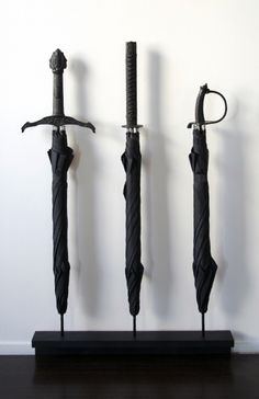 sword handle umbrellas. WIN