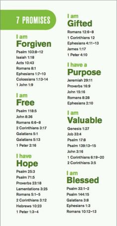 7 Promises of God scripture