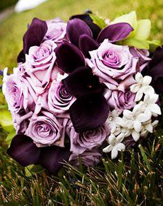 Rose, Calla Lily, and Stephanotis Bouquet