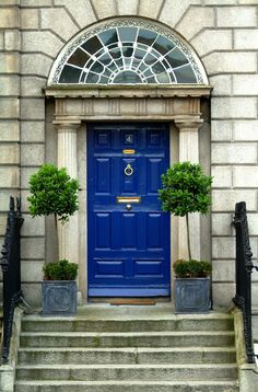 """"""" Georgian architecure and colorful doors in Dublin """""""