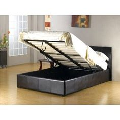 Double bed with storage - this would be great for food storage