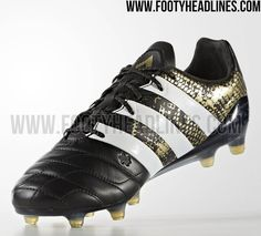 Black / Gold Adidas Ace 2016-2017 Leather Stellar Pack Boots Leaked - Footy Headlines