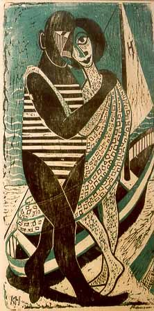 woodcut by karl heinz hansen-bahia; german artist, emigré to brazil in 1949. great museum of his work in cachoeira, bahia, brazil (click for link; site is in portuguese)