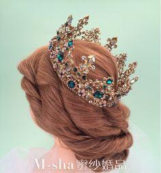 Women Rhinestone Baroque Bridal Wedding Jewelry Headband Fashion Tiara Crown New Frauen strass barock braut hochzeit schmuck stirnband mode tiara krone neu Bridal Crown, Bridal Tiara, Headpiece Jewelry, Hair Jewelry, Royal Jewelry, Cute Jewelry, Gold Jewelry, Tiffany Jewelry, Glamouröse Outfits