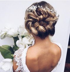 Beautiful Braids Wedding Hair with Updo Hair Ideas