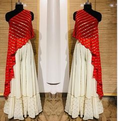 Red Crop Top Bottom plazo indian dress red and white color function wear Wedding wear party wear skirt lengha choli Party Wear Indian Dresses, Indian Fashion Dresses, Designer Party Wear Dresses, Indian Gowns Dresses, Dress Indian Style, Indian Designer Outfits, Indian Wedding Outfits, Indian Outfits, Pakistani Clothing