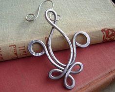 Fleur De Lis Aluminum Wire Ornament - Mardi Gras - New Orleans - Christmas Ornament - Holiday Ornament