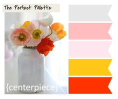 Sunny Little Centerpiece http://www.theperfectpalette.com/2012/01/2012-resolutions-and-reflections.html