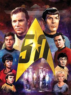 Star Trek New TOS 50th Anniversary Art Prints Available Now