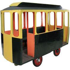 1stdibs.com   A Life Size 50's Fairground Tram For KIds