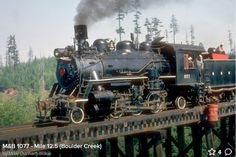 MacMillan-Bloedel 1077 2-6-2 logging railroad locomotive at work on Vancouver Island. Photo by Mike Dunham-Wilkie