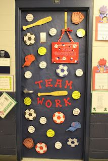 3D sports classroom door