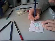 "Coloriage ""Tilda Magnolia"" aux crayons de couleurs aquarellables"