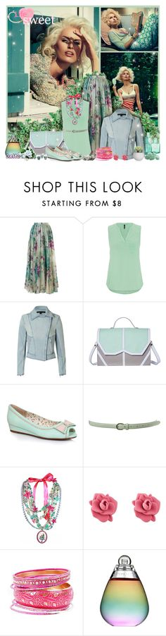 """""""Round And Round"""" by delta ❤ liked on Polyvore featuring Chicwish, maurices, Theyskens' Theory, Emeline Coates, Ellie, Miss Selfridge, Tarina Tarantino, Marc by Marc Jacobs, Estée Lauder and maxiskirt"""