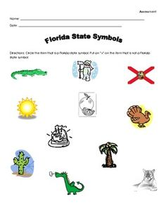 Florida State Symbols Coloring Pages Florida Symbols Facts - Florida state bird and flower and tree