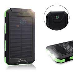 Hiluckey Solar Charger,Solar External Battery Pack,Portab…