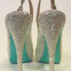 Crystal Slingback heels Cute Shoes, Me Too Shoes, Wedding Shoes, Wedding Stuff, Dream Wedding, Dream Shoes, Shoe Collection, Bling, Drop Earrings