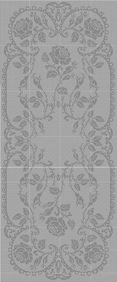 Filet Crochet Runner Chart