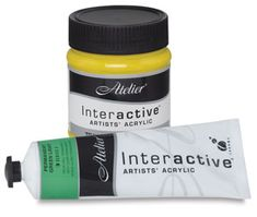 Atelier Interactive Acrylics - use them for my acrylic and mixed media paintings.
