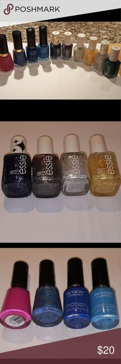 Essie NEW unused nail polish beautiful colors! Brand new, unused lot of Revlon and Essie nail polishes. Mix of solid colors and sparkles. Essie retails at $9 per color! This is a great deal. Essie Makeup