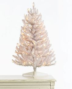 Martha Stewart Collection Christmas Tree, 3' White Tree with Clear Lights - Holiday Lane - Macy's