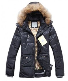 Moncler Top Quality Down Jackets For Men Multi Zip Style Black www.onlakemac.com...