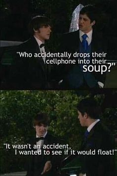 Yeah Josh, Drake had a perfectly logical reason to put his phone in his soup...