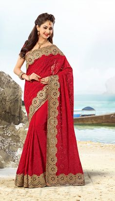 We are indulged in offering a wide assortment of Exclusive Designer Partywear Sarees which is available with Embroidery Works. The offered party wear sarees are provided with matching blouse. These party wear sarees are well designed by our skilled workforce using high quality chiffon fabrics and advance techniques by our workers.
