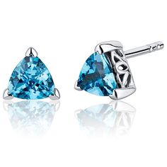 MSRP: $149.99    Our Price: 59.99    Savings: 90.00         Item Number: SE8028    Availability: Usually Ships in 5 Business Days         PRODUCT DESCRIPTION:    Lagoon Blue Hue with Brilliant Sparkle, London Blue Topaz in Sterling Silver Trillion Cut Stud Earrings are essential for any girl's jewelry collection. These gorgeous studs are fashioned into sleek sterling silver three prong mount. Fit is secure and comfortable with post-tension earrings backs.         FEATURES:      	Crafted in…