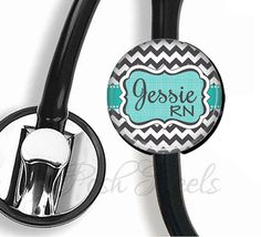 This cute Stethoscope ID tag measures 1-1/2 inches and is covered in mylar so you can easily wipe it clean.    ♥ ID Tag will NOT fit Littman Cardiology