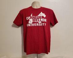 CMU Carnegie Mellon University Adult Medium Burgundy TShirt #Gildan #CarnegieMellonTartans