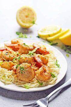 Scallop and Shrimp Scampi Recipe | Grandbaby Cakes
